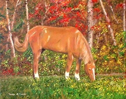 oil painting of a horse