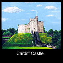 painting of cardiff castle