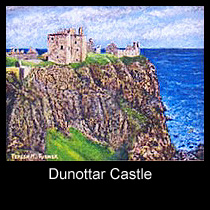 painting of dunottar castle