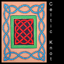 painting of Celtic knotwork